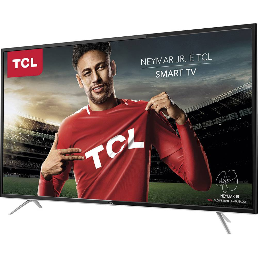 Smart TV LED 43'' TCL L43S4900FS Full HD com Conversor Digital 3 HDMI 2 USB Wi-Fi 60Hz - Preta