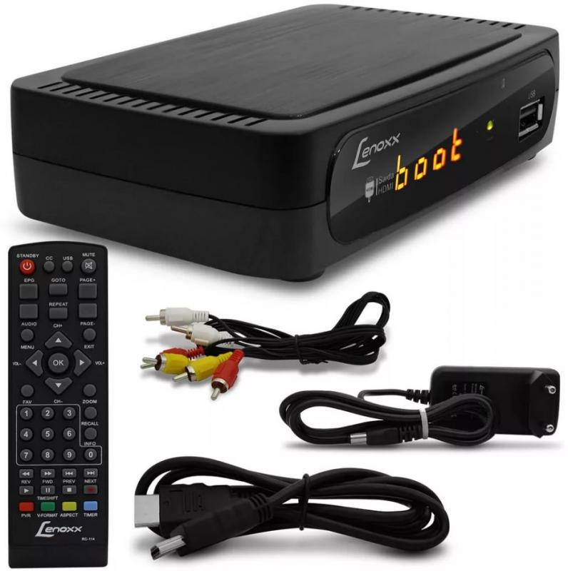 Conversor de Sinal TV Digital Lenoxx SB615 Função Gravação Saída HDMI USB MP3 Setbox Alta Resolução