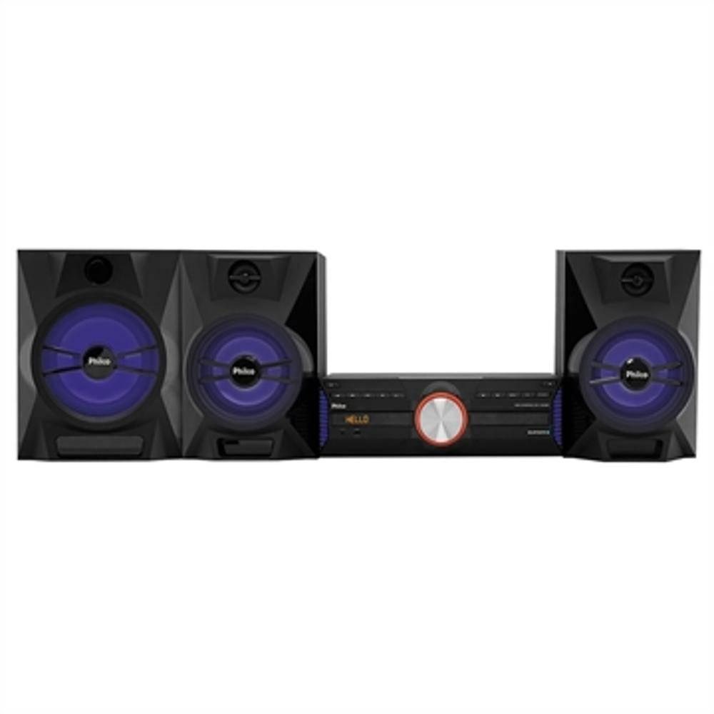 Mini System Ph1700bt Entradas Usb E Auxiliar, Bluetooth, Subwoofer, Rádio Fm, 1500w Rms - Philco