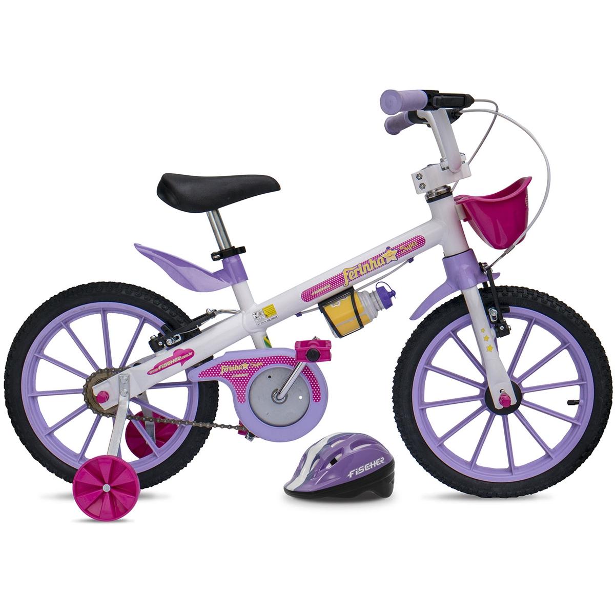 Bicicleta Infantil Aro 16 Ferinha Branca 17342-18811 Fischer