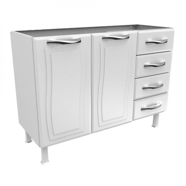 Gabinete 2 Portas 4 Gavetas sem Tampo GPI2P4G Ipanema Colormaq Branco Compartilhe: