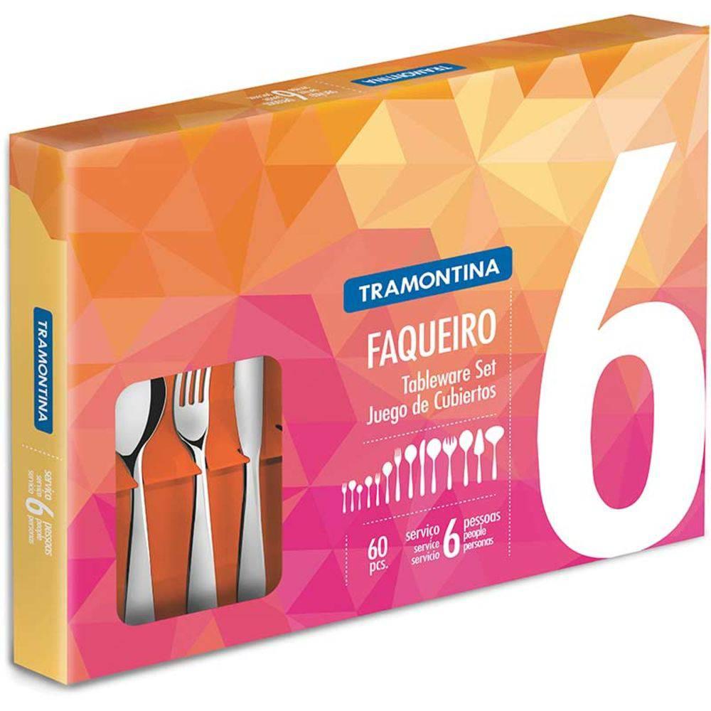 Faqueiro Aço Inox 60 peças Laguna - Tramontina Inox