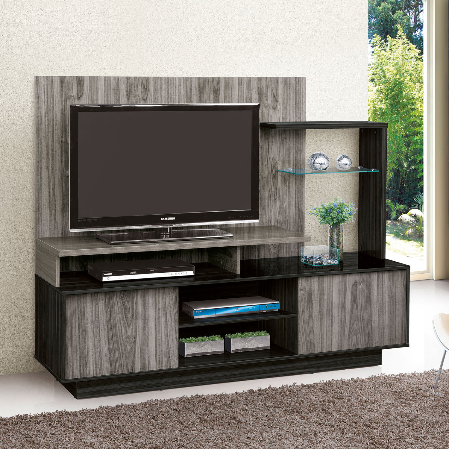 Estante Home Premium Cinza/Grafite - Notavel