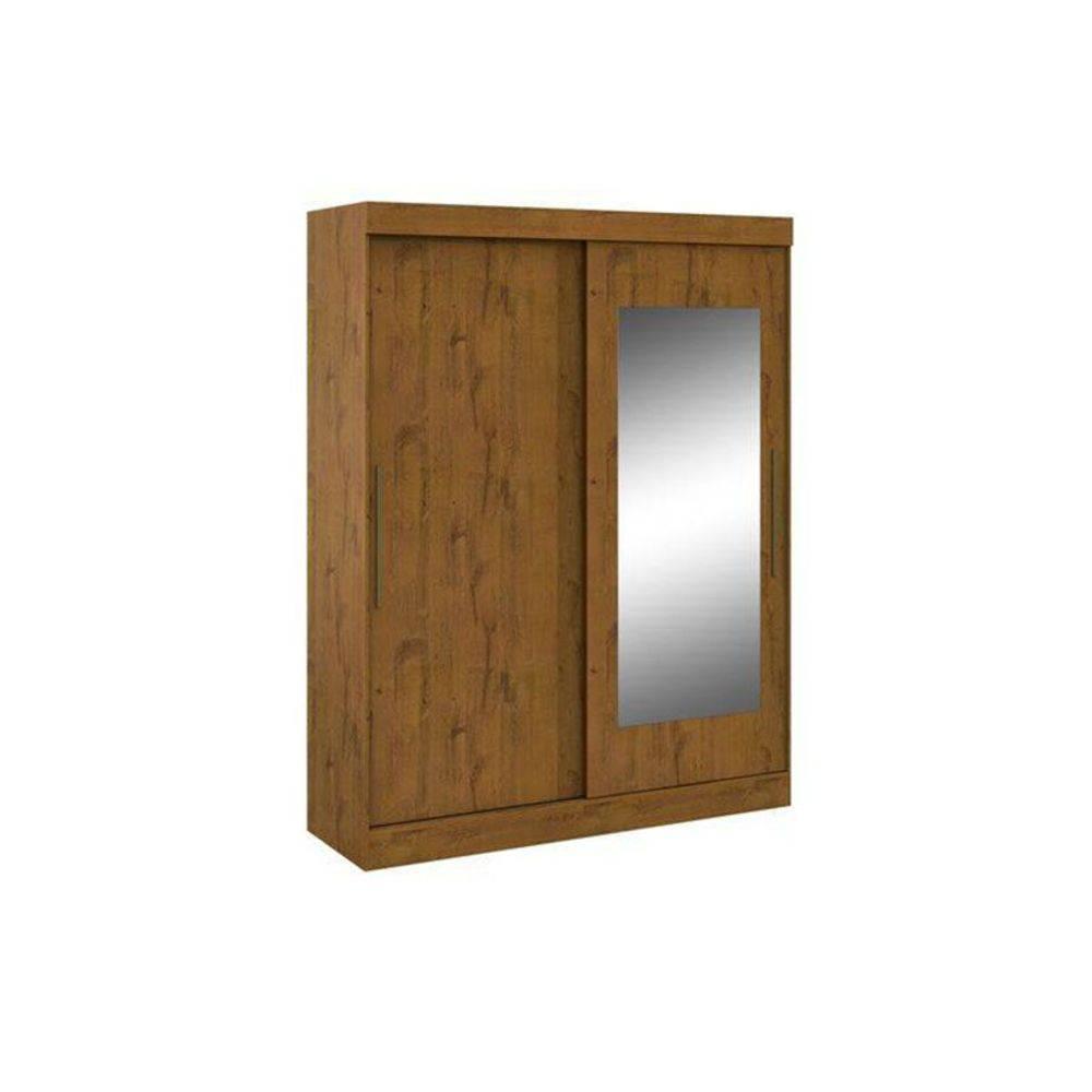 Guarda Roupa Lopas Montebello 2 Portas e 2 Gavetas c/Espelho - Cor Rovere Soft