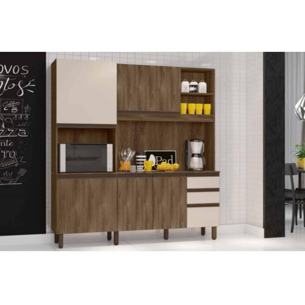 Cozinha Compacta Anis - Bela Flex - Berlim/Off White