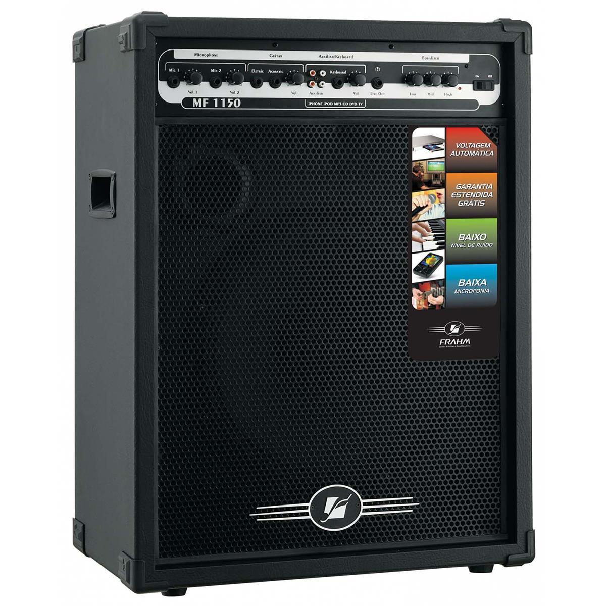 Caixa De Som Amplificada 150W Rms 15 Pol Mf1150 Frahm