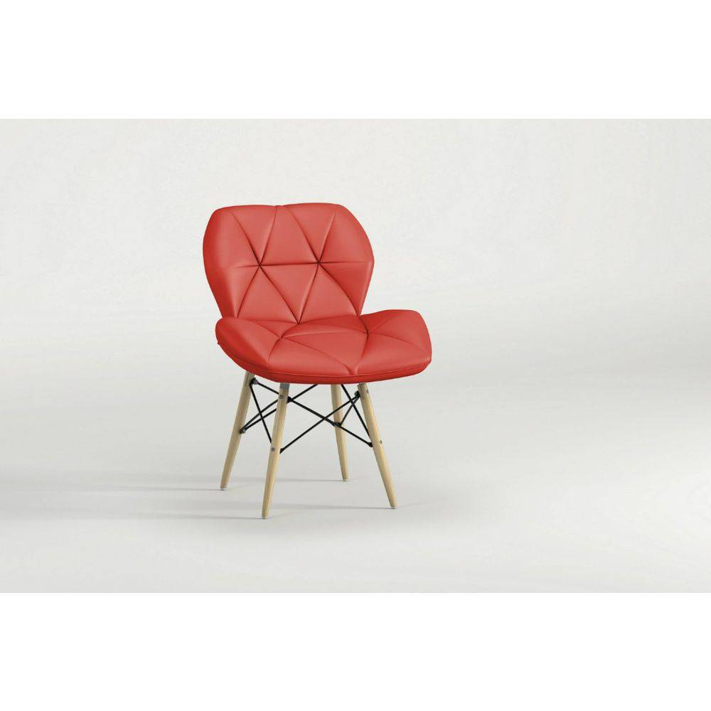 Cadeira Slim Eiffel Notável Vermelha