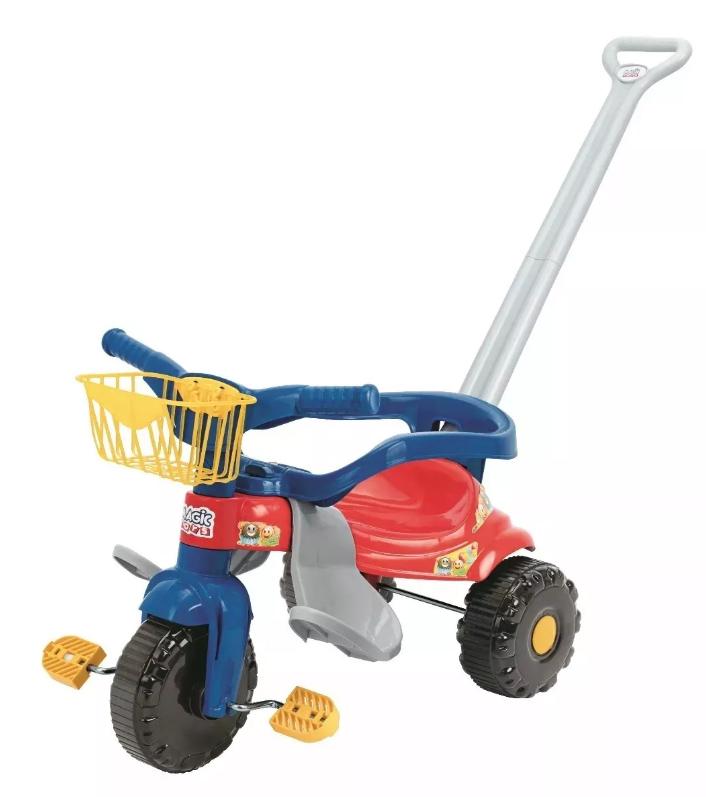 Triciclo Infantil Velotrol Criança Festa C/ Haste E Protetor