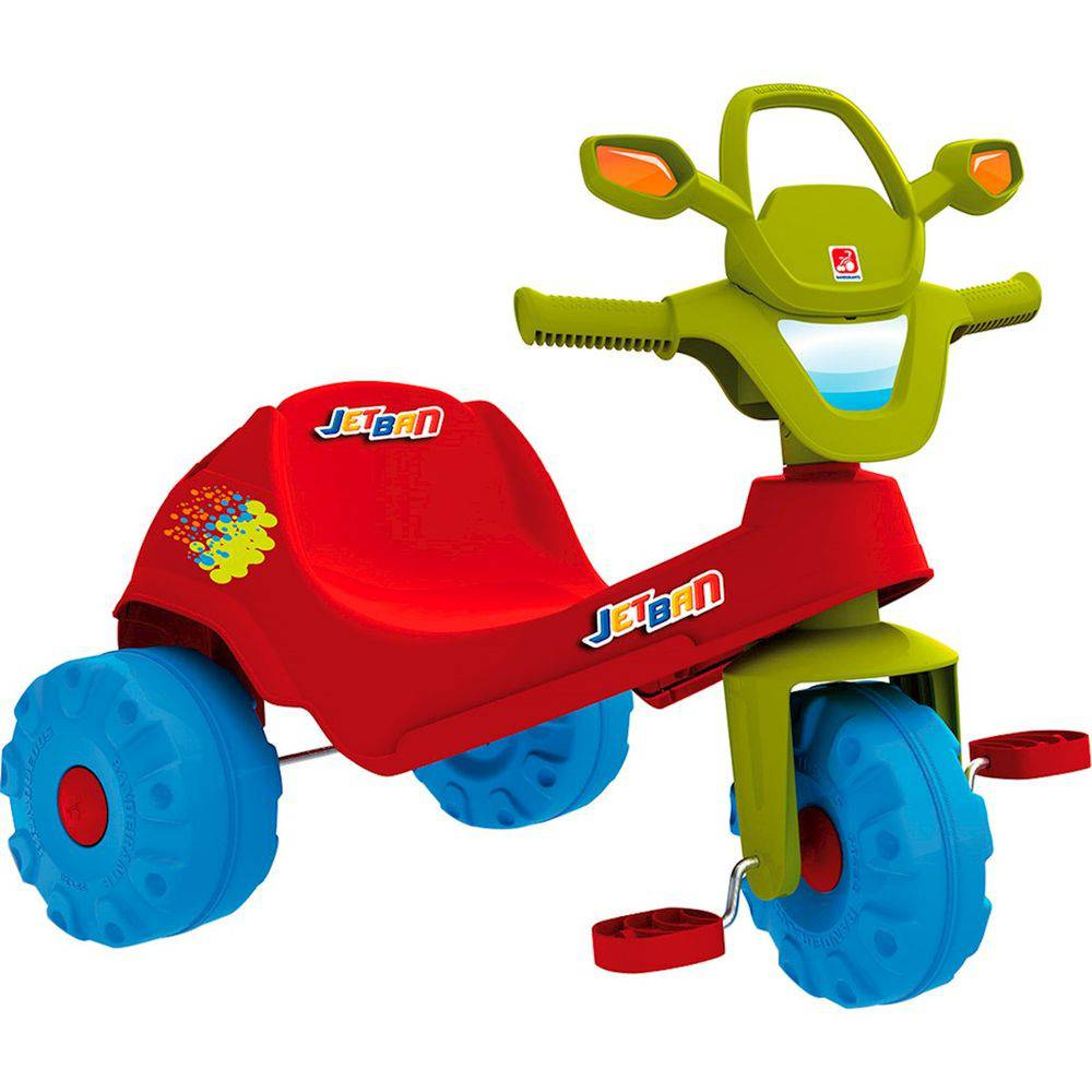 Triciclo Infantil Bandeirante Jet Ban - Vermelho