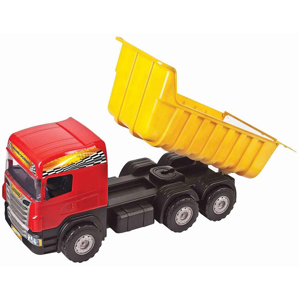 Caminhão Super Caçamba Vermelho - Magic Toys