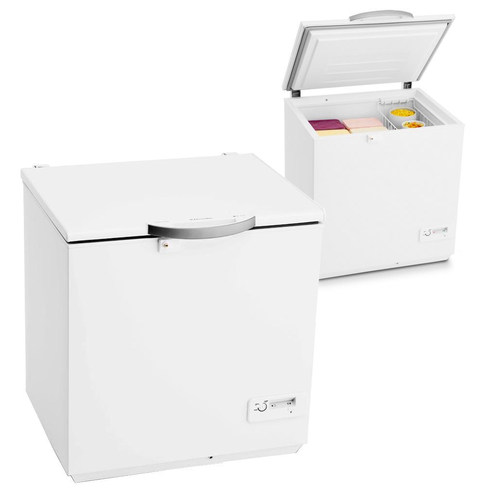 Freezer Electrolux Horiontal H220 1 Portas 210 Litros Branco Cycle Defrost 220v