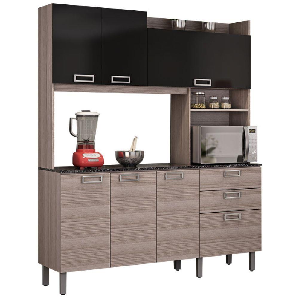 Kit Cozinha I4G2 160 Açaí 7 Portas 2 Gavetas Itatiaia