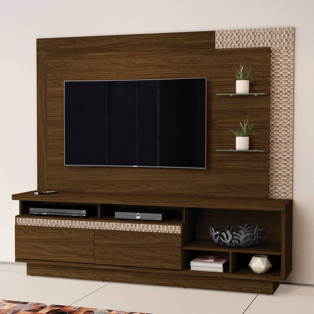 Estante Home para TV até 65 Polegadas London - Conhaque - Belaflex