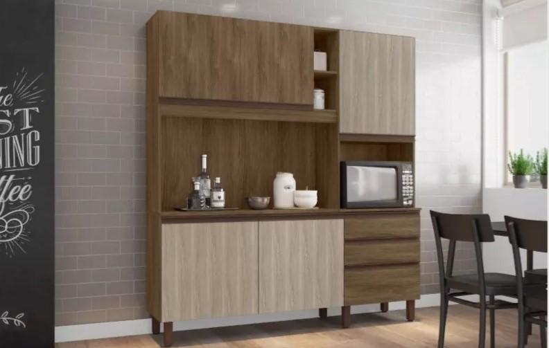 Cozinha Compacta Iris - Bela Flex C/Torre - Berlim/Off White